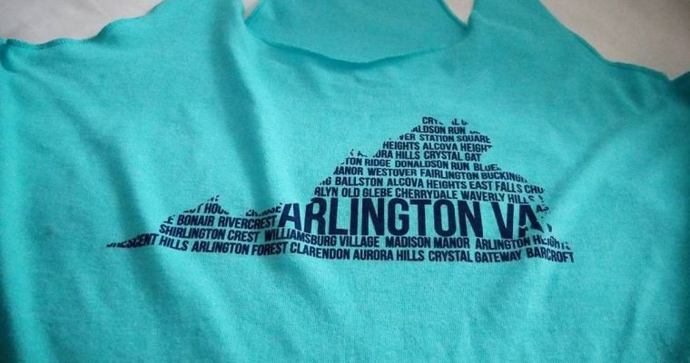 t-shirt with Arlington, VA logo