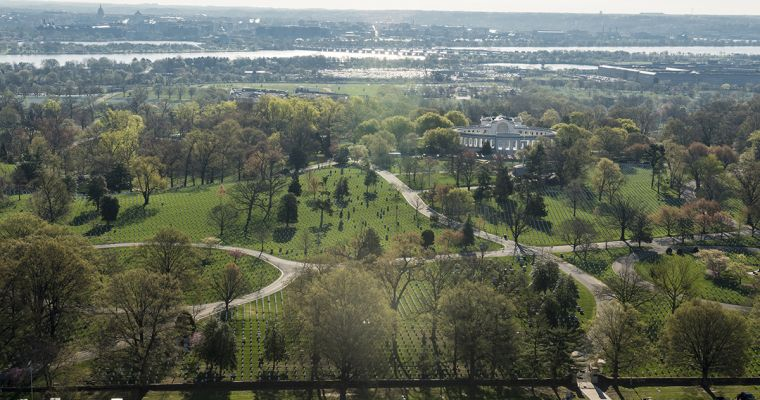 aerial courtesy of Arlington National Cemetery